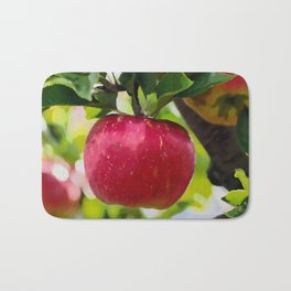 Juicy red apple Bath Mat