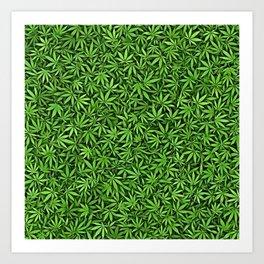 Just green weed Art Print