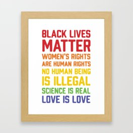 black lives matter-women is rights are human rights Framed Art Print