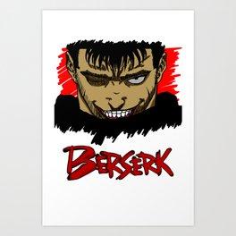 Berserk Grin Art Print