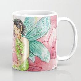 Pink Bookworm Faerie Coffee Mug