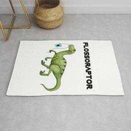 Floss Flossoraptor Hygiene Dental Funny -Dentist Gift Rug