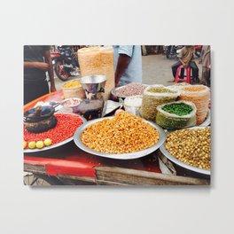 Street Food - Streets of India Metal Print