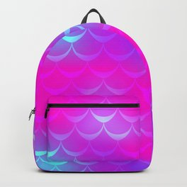 Pink and Blue Mermaid Tail Abstraction. Magic Fish Scale Pattern Backpack