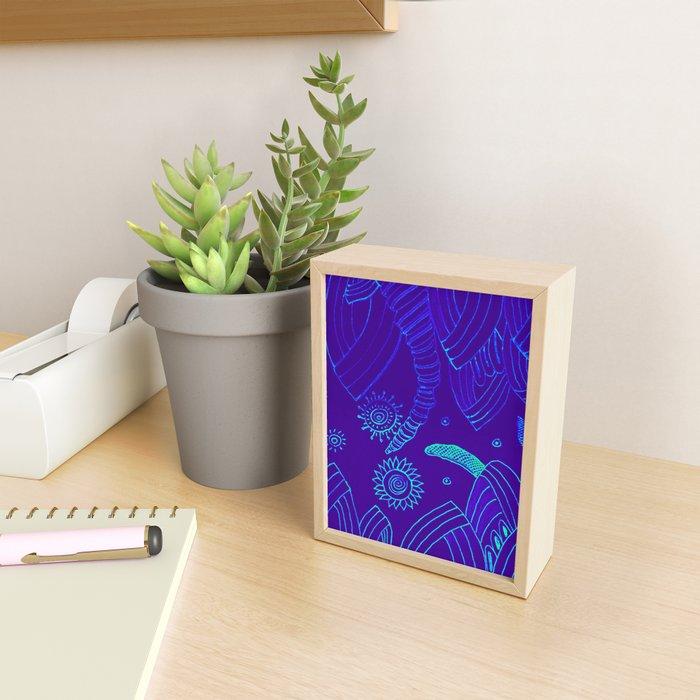 Blue Energy Transformation Framed Mini Art Print