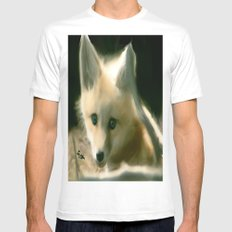 BLUE EYED FOX Mens Fitted Tee White MEDIUM