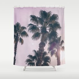 Palm Tree Art Print {2 of 3}   Magenta Pastels Topical Beach Plant Nature Vacation Sun Vibes Artwork Shower Curtain
