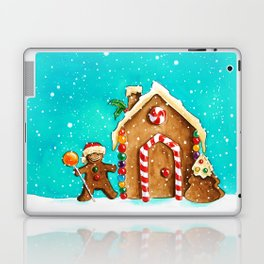 Christmas gingerbread party Laptop & iPad Skin