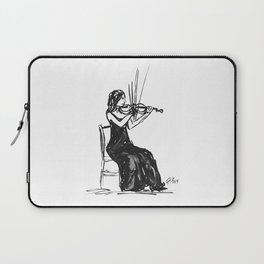 Playing the violin Laptop Sleeve