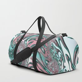 Coral and Teal Spiral Duffle Bag