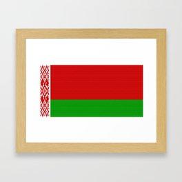 Belarus Flag (Canvas Look) Framed Art Print