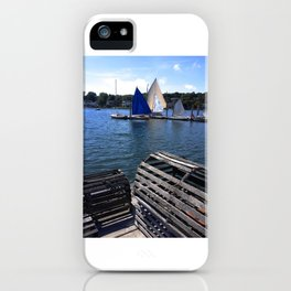 New England Lobster Traps iPhone Case