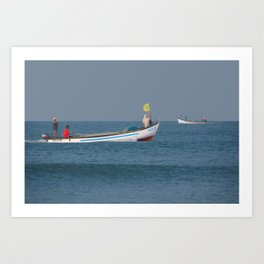 Fishing Boats North Goa Art Print