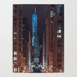 Skyscraper in Chicago Poster