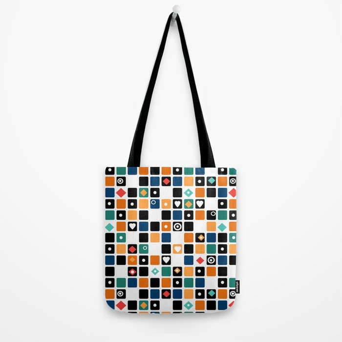 Colorful cubes . Tote Bag