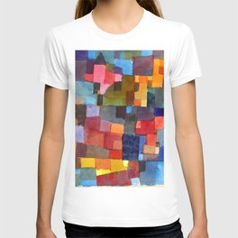 "Paul Klee ""Raumarchitekturen - Auf Kalt-Warm)(Room architectures - On cold-warm))"" T-shirt"