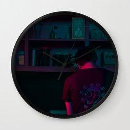 He Screens Wall Clock