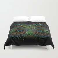 trippy Duvet Covers featuring trippy by vidikay