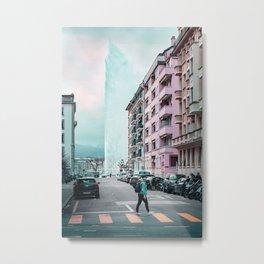 Geneva Jet d'eau - Fontaine Metal Print
