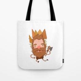 Lumberjack Graphic Tote Bag