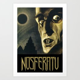 Nosferatu, Vintage Horror Movie Poster Art Print
