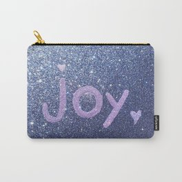 Joy Glitter Card Carry-All Pouch