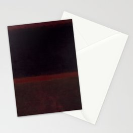 1960 Black on Dark Sienna On Purple by Mark Rothko HD Stationery Cards