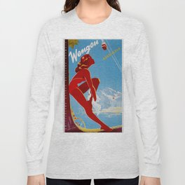 Wengen Switzerland - Vintage Travel Long Sleeve T-shirt