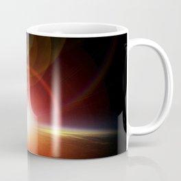 Solar flare, imagined sunrise on planet Mars Coffee Mug