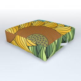 SUNNY DAY (abstract flowers) Outdoor Floor Cushion