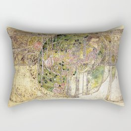 Margaret Macdonald Mackintosh Sleeping Princess Rectangular Pillow