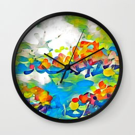 Splashes Of Color Rio de Janeiro by CheyAnne Sexton Wall Clock