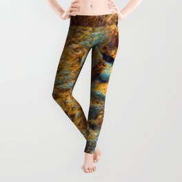 Bubbly Turquoise with Rusty Dust Leggings