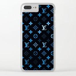 louisVuitton Blue black Clear iPhone Case
