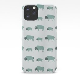 Bison And Baby (Moss) iPhone Case