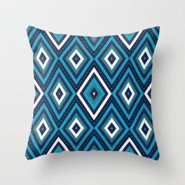 Blue Diamonds Throw Pillow