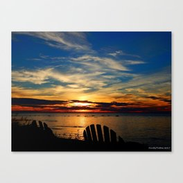 Peace and Relaxation at the Sea shore Canvas Print