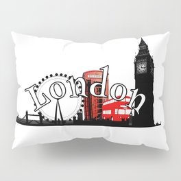 London Town logo design Pillow Sham
