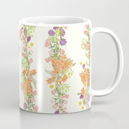 Romantic Vintage Design of Birds & Flowers - Natural colorful Coffee Mug