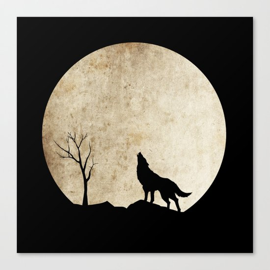 Wolf night Canvas Print