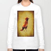 crow Long Sleeve T-shirts featuring Crow by Joe Ganech