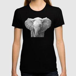 Black and White Baby Elephant T-shirt