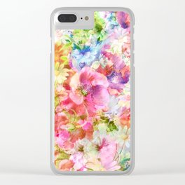 tendres fleurs des champs Clear iPhone Case
