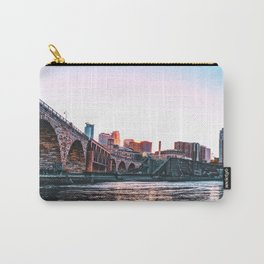 Minneapolis Skyline Colorful Sunset Carry-All Pouch