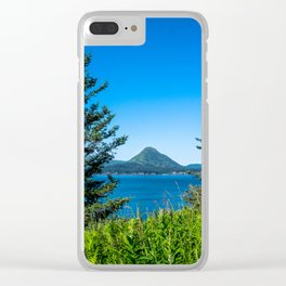 Framed Mountain Clear iPhone Case