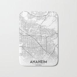 Minimal City Maps - Map of Anaheim, California, United States Bath Mat
