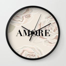 Amore/ love roses Wall Clock