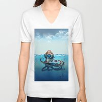 finding nemo V-neck T-shirts featuring Nemo by Tony Vazquez
