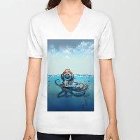 nemo V-neck T-shirts featuring Nemo by Tony Vazquez