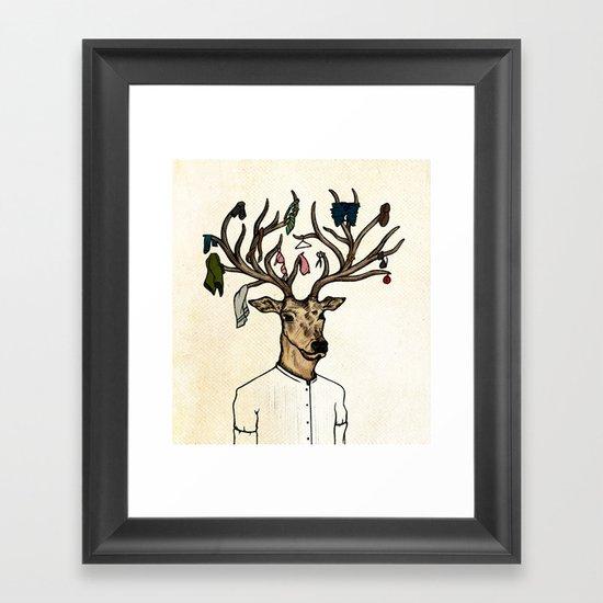 Evicted deer Framed Art Print